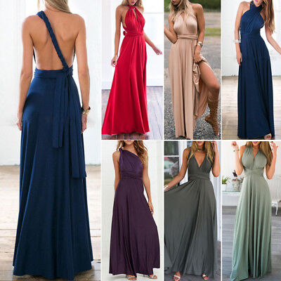 Sexy Frauen Sommer Verband Bodycon Abend Party Cocktail Strand Langes Kleid