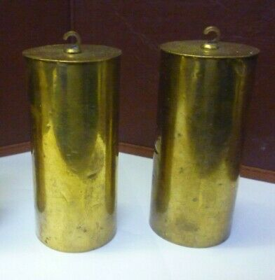 Antique Pair Of Victorian Brass Cased Triple Weight Vienna Weights
