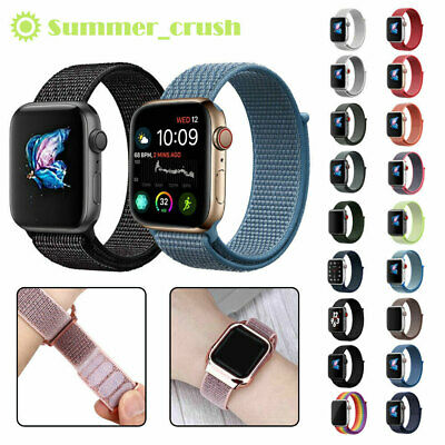 Woven Nylon Sport Loop Band Strap Bracelet For Apple Watch iWatch Series 4/3/2/1