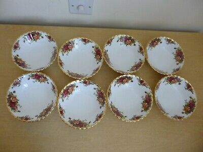 8 Royal Albert Old Country Roses Cereal Bowls - Vintage - 1st Quality