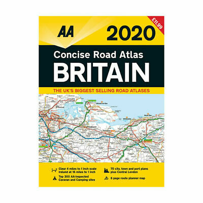AA-Concise Road Atlas Map Britain UK 2020 Spiral Bound Latest Edition RRP £11.99
