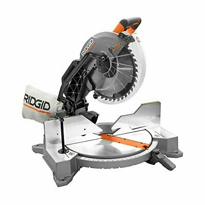 """New In Box Ridgid 12"""" Dual Bevel Miter Saw With Laser R4122"""