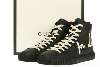 d7d6014b1 New Gucci Current Black Leather Blind For Love High Top Sneakers Shoes  13G/Us 14