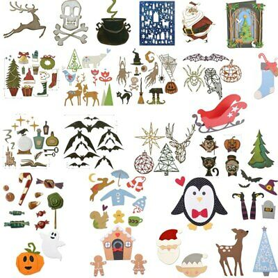 Christmas Halloween Festival Cutting Dies Stencils Scrapbooking Embossing Decor