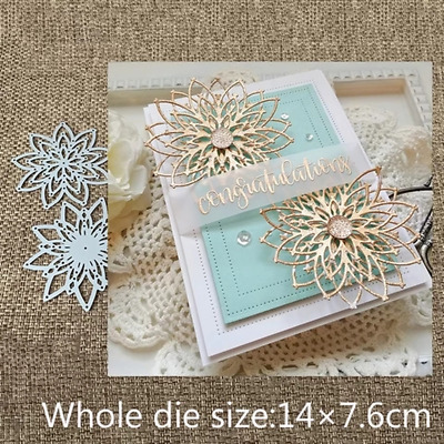 Layers Flower Lace Metal Cutting Dies DIY Etched Craft Scrapbooking Embossing
