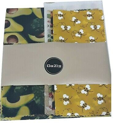Beeswax Wraps for Food in 6 SIzes, best designs