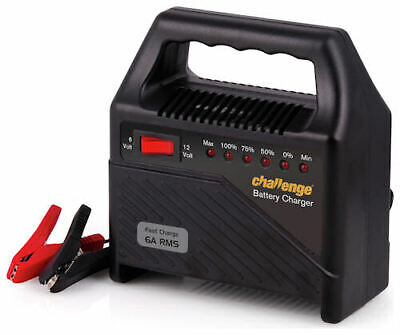 Challenge 6/12 Volt Battery Charger RRP 27.99 lot GD 7404355