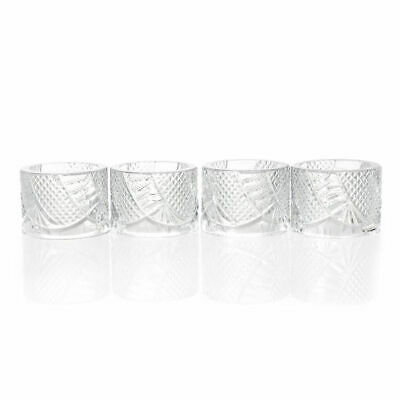 "Waterford Crystal Seahorse Set of 4 (2"") Napkin Rings (new damaged box)"