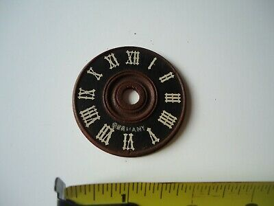 "Small Vintage Wooden Germany Cuckoo Clock dial face 2-1/4"" Diameter"