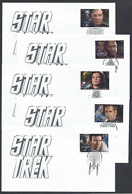 2017 Canada Star Trek Limited FDCs with stamps from Pane of 5