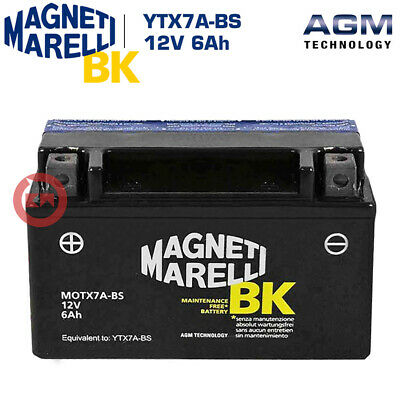 BATTERIA MAGNETI MARELLI YTX7A-BS 12V 6Ah KYMCO People S 200 2005 2006 2007