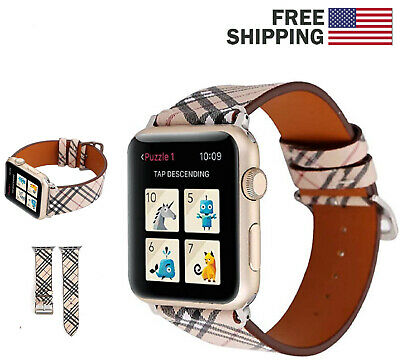 Burberry Plaid Watch Band Apple iWatch Series 1 2 3 4 Sport Strap 38/40/42/44 mm