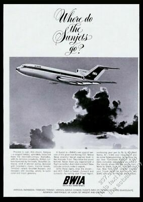 British West Indian Airways Flights to Trinidad and Tobago  Poster A3 Print
