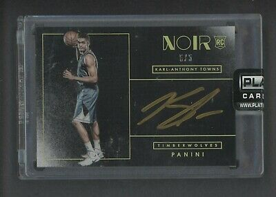 2018-19 PANINI NOIR Karl-Anthony Towns Auto Patch #d /5 Nike
