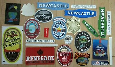 25 BEER STICKER PACK LOT decal craft beer brewing brewery tap handle W