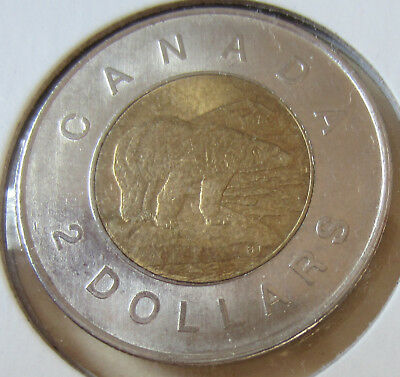 2012 TYPE 1 Canada Toonie Two Dollar Coin. RARE VARIETY UNC. (RJ413)