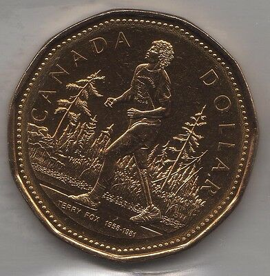 2005 Canada Terry Fox One Dollar Coin Loonie. ICCS MS-64 UNC.