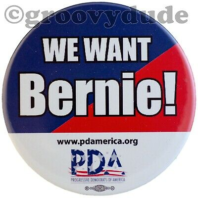 Official We Want Bernie Sanders For President 2020 Campaign Pin Pinback Button