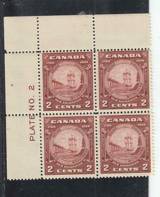 Canada # 210 Vf-Mnh Plate Block Of Halifax Seal Cat Value $60