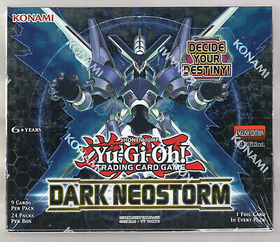 Yugioh Dark Neostorm Booster Box 1st Edition Factory Sealed TCG English 24 packs