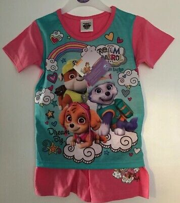 BNWT Girls Pink Paw Patrol Patterned Short Pyjama Set. Age 2-3 Years