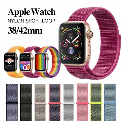 Replacement Sport Loop Nylon Woven Band for Apple iWatch Series 4 3 2  38mm/44mm