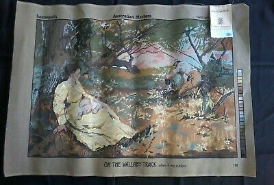 Fredrick Mccubbin Tapestry 'On The Wallaby Track' Canvas Unused