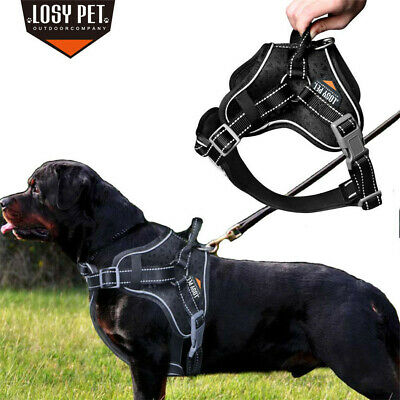 LOSY PET Power Dog Puppy Harness Strong Adjustable Reflective Free Comfortable