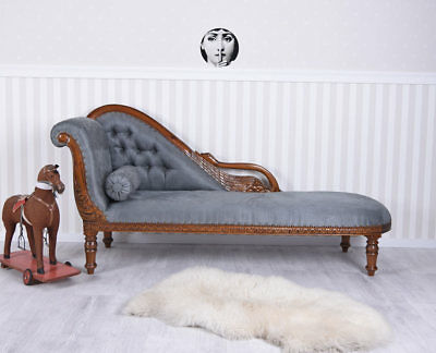 Empire Sofa Madame Recamiere Antique Style Chaise Longue Laying