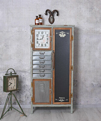 Cabinet with Drawers Clock Loft Stile High Chest Factory Wardrobe Shoe