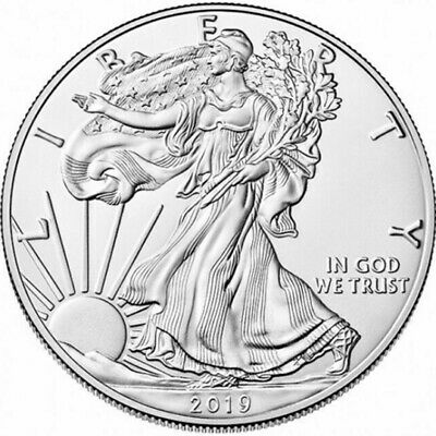 2019 1 oz American Silver Eagle 1$ GEM  Commemorative Coin Collection Gift - UK