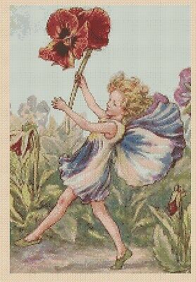 Flower Fairy  Cross stitch chart Geranium Fairy  No 428  FlowerPower37-uk
