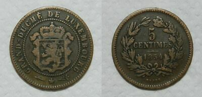 Luxembourg : 5 Centimes 1854