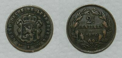 Luxembourg : 2-1/2 Centimes 1870