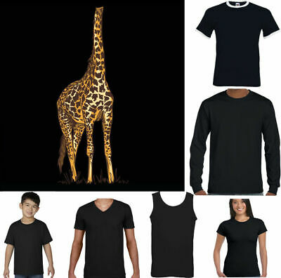GIRAFFE T-SHIRT Mens Funny Fancy Dress Outfit Costume Animal Zoo Party Top Body