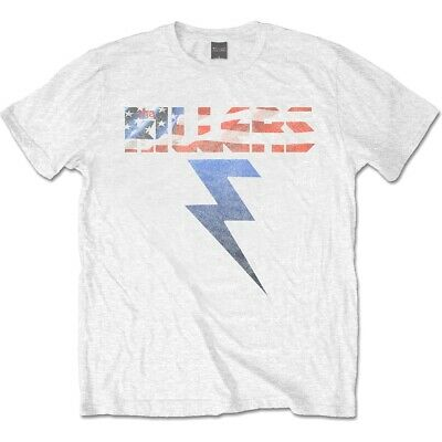 The Killers Bolt T-shirt White Official Licensed Music - Clutch Cable Kawasaki