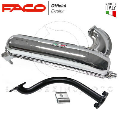 Faco Silencieux Pot D'Échappement Expansion Torpille Chrome Piaggio Vespa 125