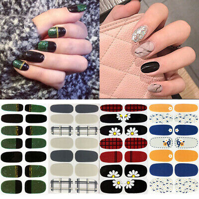 Nail Wraps Flower Patterns Mixed Size Full Cover 3D Nail Art Sticker Decorations