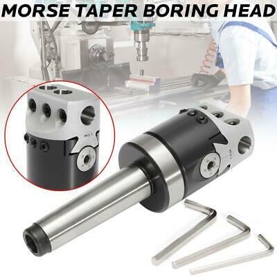 MT3-M12 Morse Taper Boring Head 50MM Depth 150MM With 3 T-WRENC Taper Shank AU