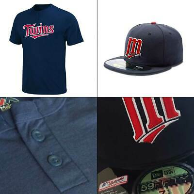 Minnesota Twins 2 Button MLB T shirt + On-Field 5950 Fitted Baseball Cap