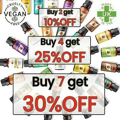 ESSENTIAL OILS Aromatherapy Natural Pure Organic Essential Oil Fragrances 10ml