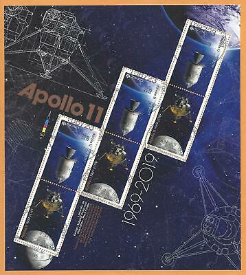 2019 Apollo 11 Pane of 6 Tête-Bêche stamps First Day Cancel