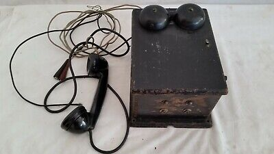 Antique Western Electric Wall Phone Telephone Hand Crank Ringer 300K Box,Handset