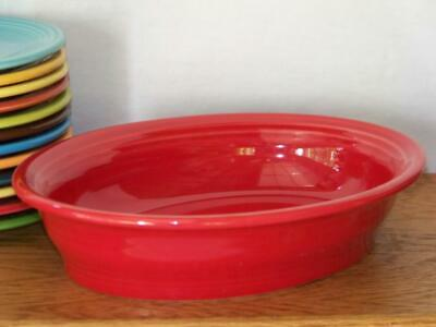 Fiesta® SCARLET - Small Oval Bowl - Vegetable Bowl