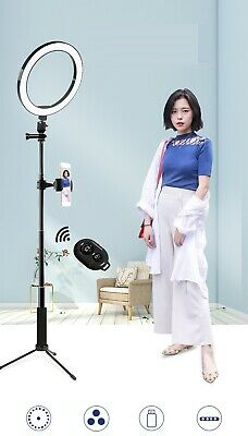 """10"""" LED Beauty Light Ring w/Selfie Stick & Tripod Stand for Youtuber Live Stream"""