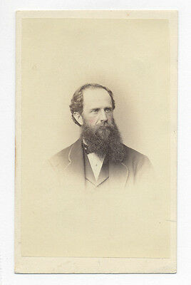 Man w/ Beard #C 1870's CDV PHOTO, probably SAMUEL W. WOODHOUSE RELATIVE