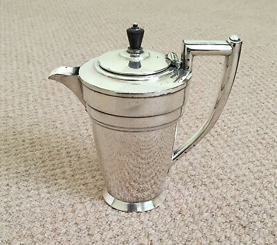 "A Vintage Art Deco 7.5"" Tall Walter Oxley Sheffield English E.p.b.m. Teapot"