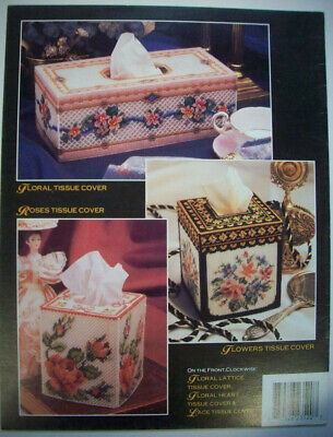Victorian Set Music Box Tissue Cover Plastic Canvas Pattern//Instructions Leaflet