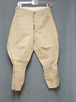 Vintage WWI-WWII US Army Military Riding Pants Measured Waist Size 28