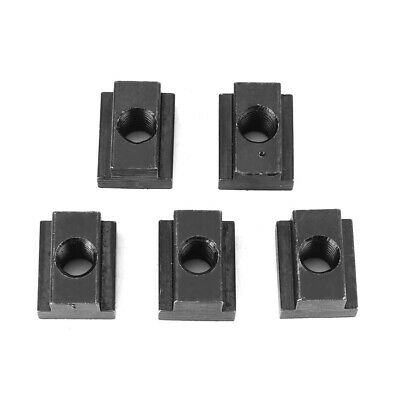 5pcs Oxyde Terminer T-Slots Nuts M6/8/10/12 Threads T Fente Dans Outils Machine